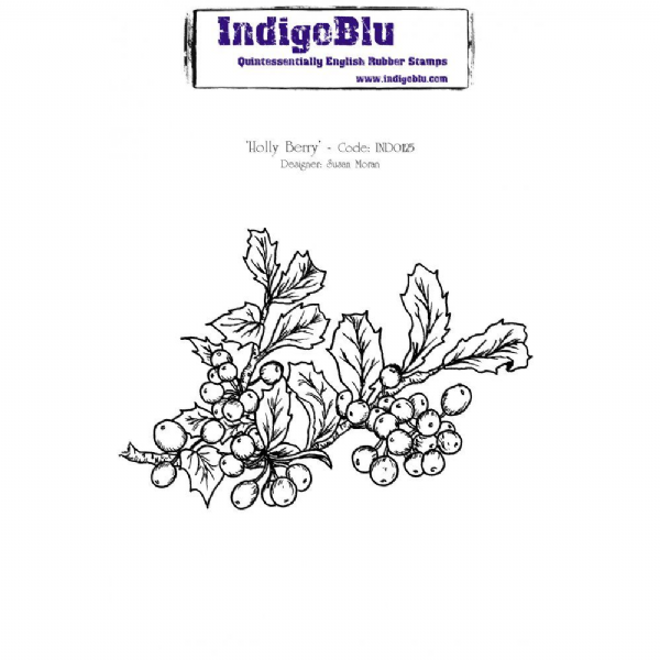 IndigoBlu Rubber Stamp Holly Berry